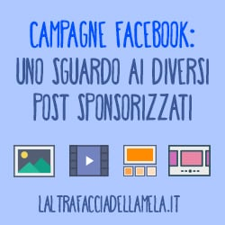 Campagne Facebook: uno sguardo ai diversi post sponsorizzati