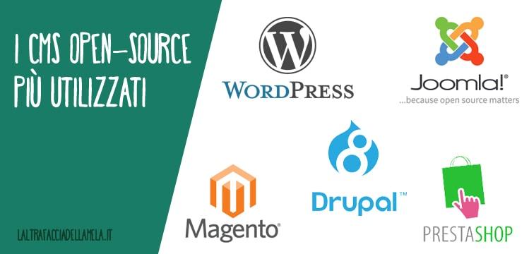 I CMS open-source più utilizzati