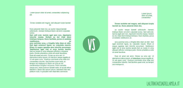 La grafica in una lettera: la formattazione del testo