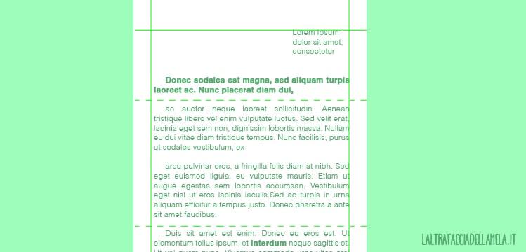 La grafica in una lettera: la gabbia