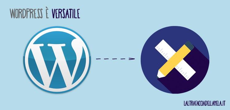 Perché usare WordPress? WordPress è versatile